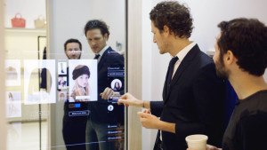 Interactive mirrors within every dressing room.