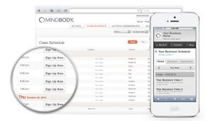 MindBody booking