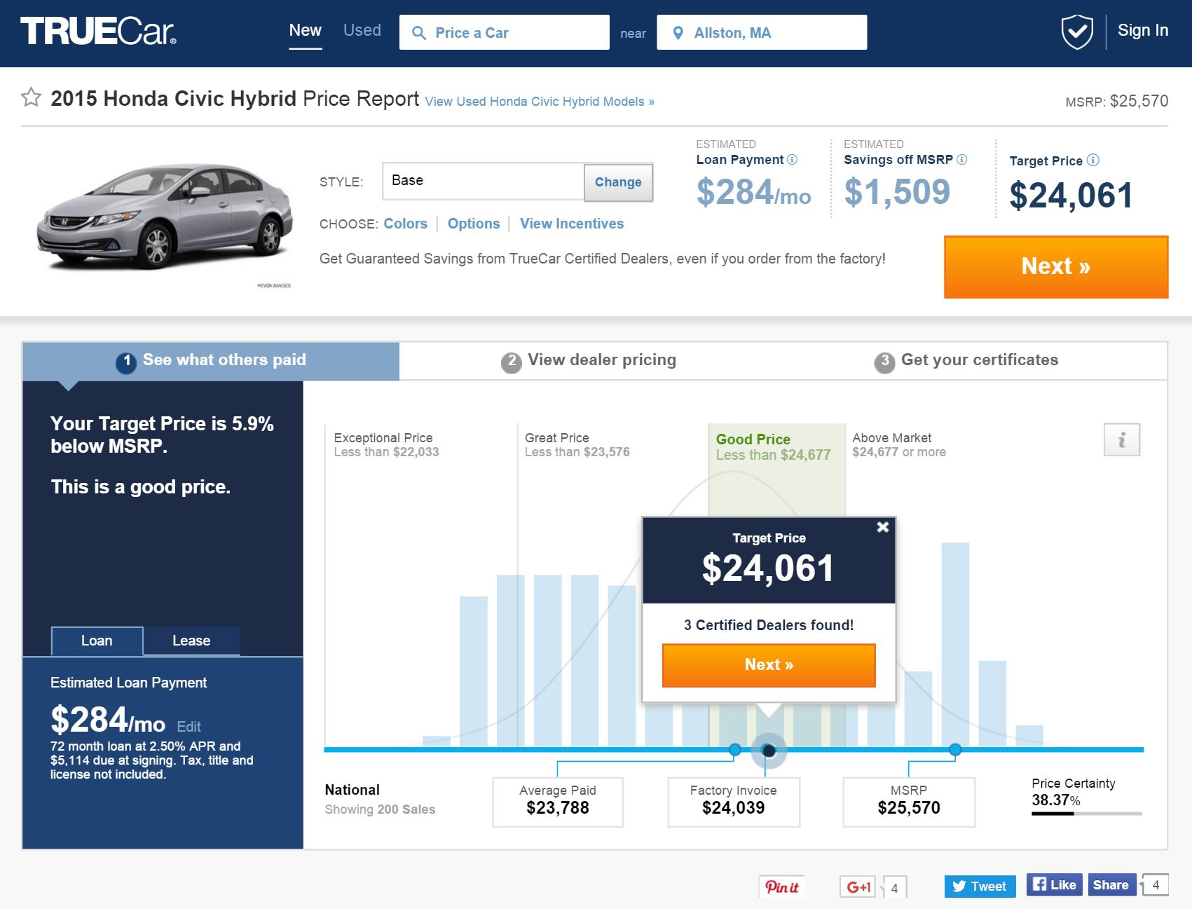 See What Others Paid For Cars >> Truecar Data Driven Car Buying Digital Innovation And Transformation