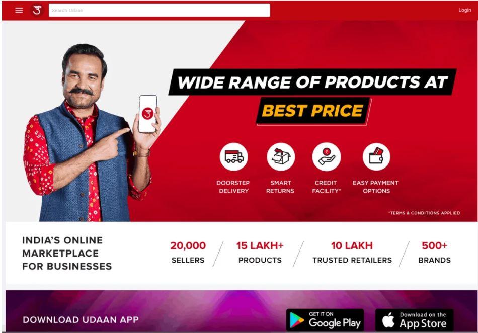 Udaan's website