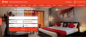 OYO Rooms website