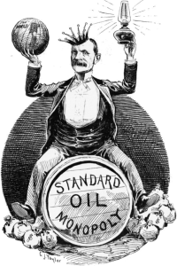 Standard Oil dissolved in 1911
