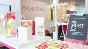 BaubleBar's pop-up shop in Soho, NYC