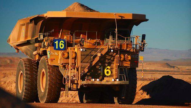 A truck at BHPs Jimblebar mine