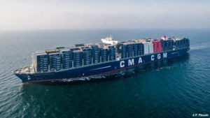 The CMA CGM Bougainville is fitted with Traxens technology.