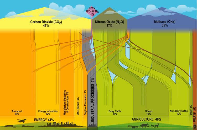 Source: https://www.mfe.govt.nz/publications/climate/gas-emissions-flowchart/gas-flowchart.html