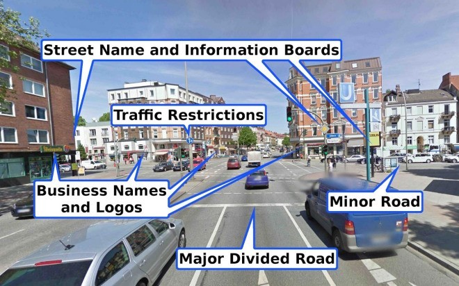 Pic 1- A few features that can be extracted algorithmically from Google Street View data [3]