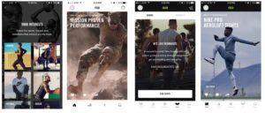 Nike+ Apps in 2016.