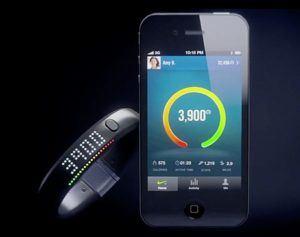 Nike Fuelband and Nike+ app.