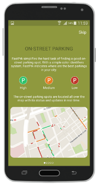 Tired of looking for a free parking space? FastPark tells