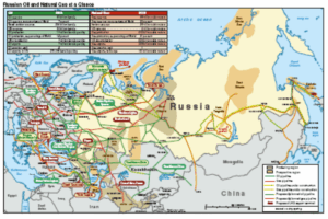 Russian pipeline network