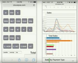 Clover's mobile POS system (circa 2015)