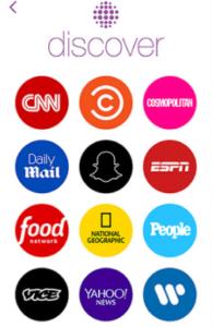 "Warner on Snapchat's ""Discover"" Platform Source: Snapchat"