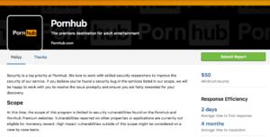 [2] Pornhub's listing on HackerOne