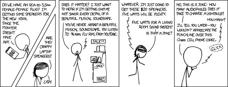 "Munroe, Randall. ""Audiophiles,"" xkcd."