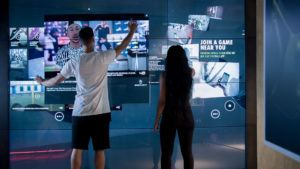 Nike's digital wall.