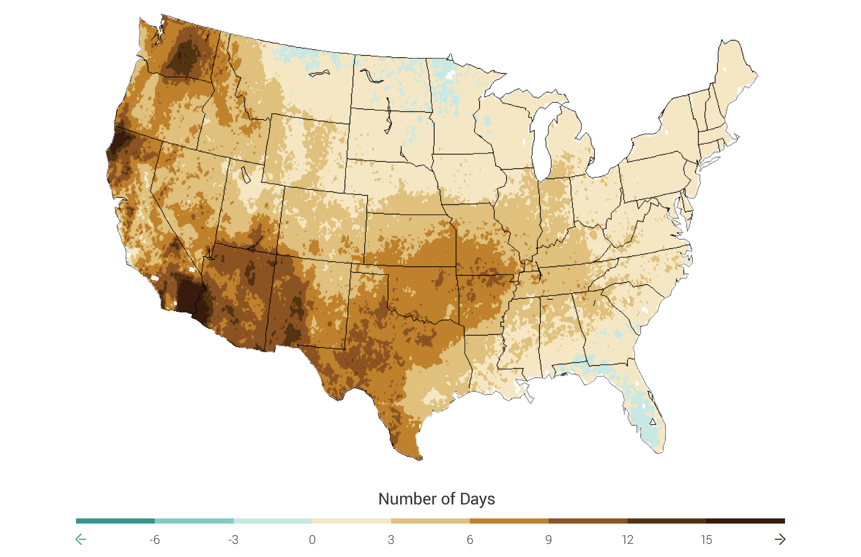 Change in Consecutive Dry Days