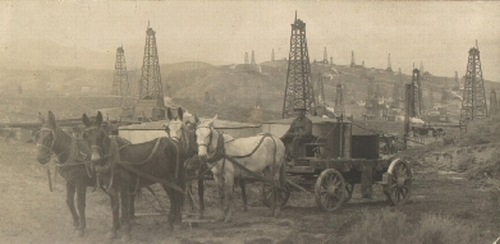In the early 1900's, operators realized that it was more efficient for mule teams to transport crude in large tanks rather than barrels [11].