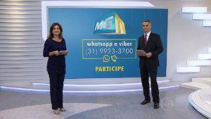 News program inviting users to send leads through WhatsApp