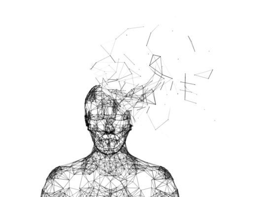 Shattered-human-head-isolated-on-white