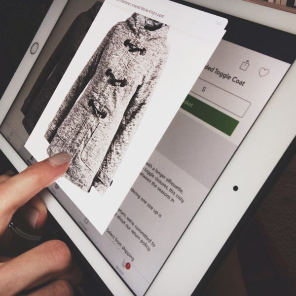 Retail shopping on a tablet