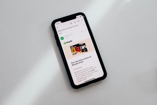 Phone with shopify ad