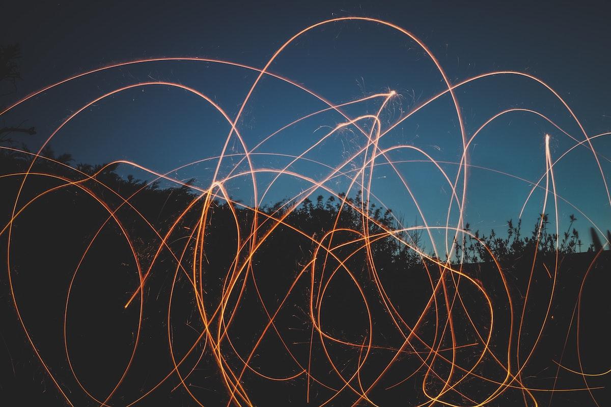 Lights across field