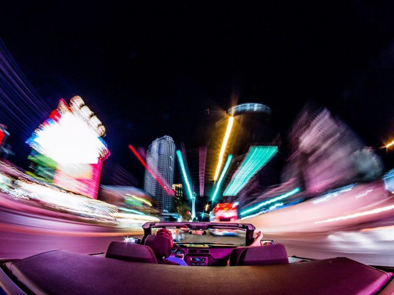 Driving In Las Vegas At Night