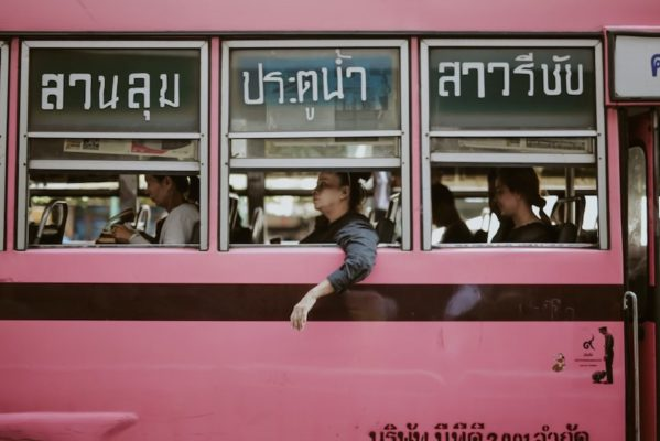 Women on bus in Thailand