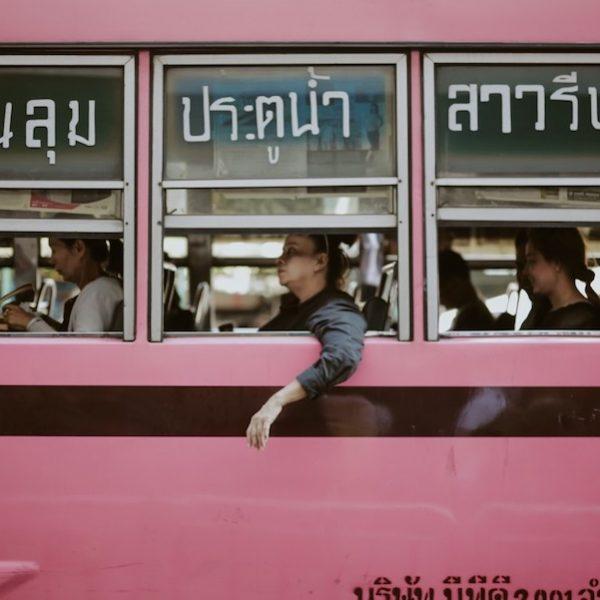Women on bus in Thailand