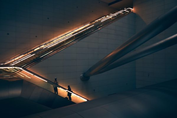 Elevator in lights