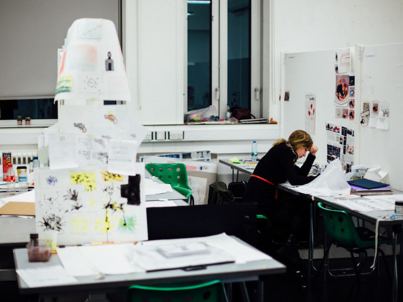 Woman in workspace