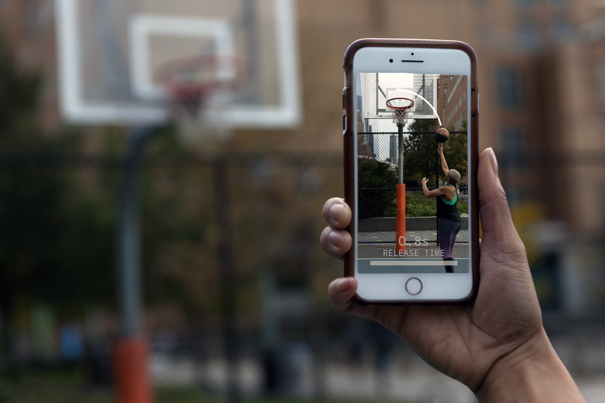 Basketball shooting training application
