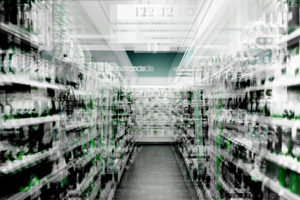 grocery store overlaid with data