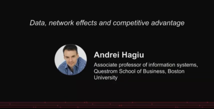 Data, network effects, and competitive advantage