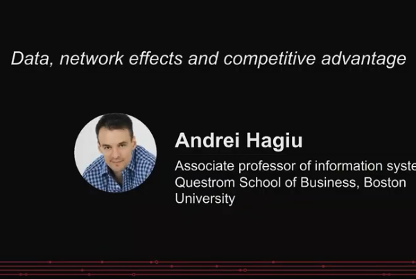 Data, network effects, and competitive advantage | Andrei Hagiu