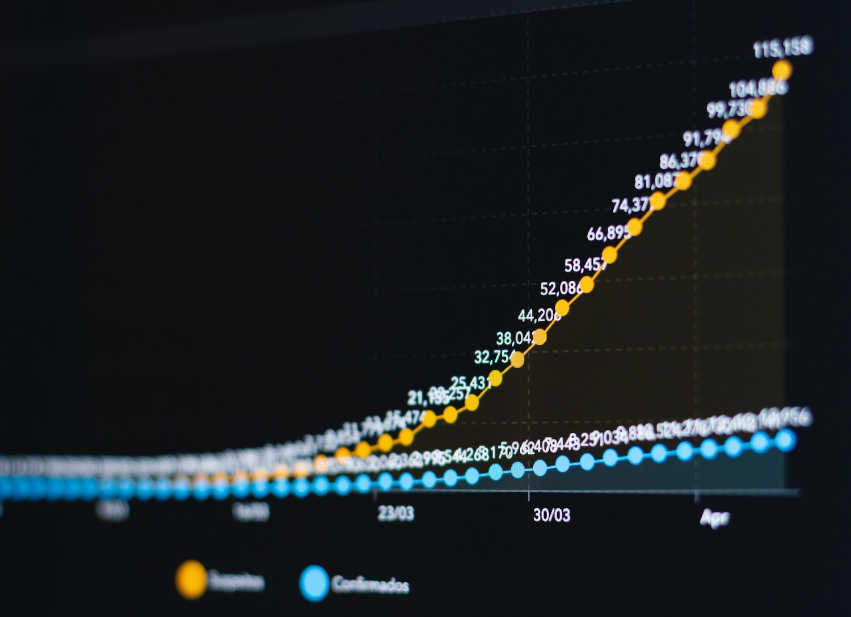 Data points show rising coronavirus cases